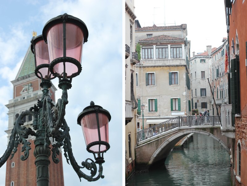 THE STREET LAMPS ARE PINK!